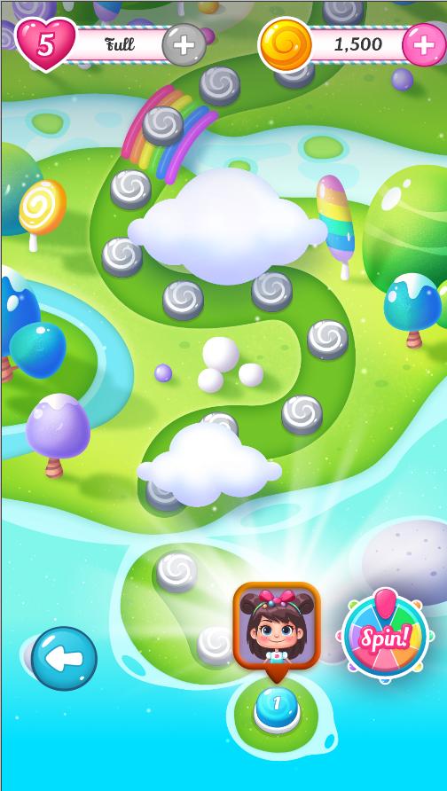 A Candy Land játékban fontos a térkép