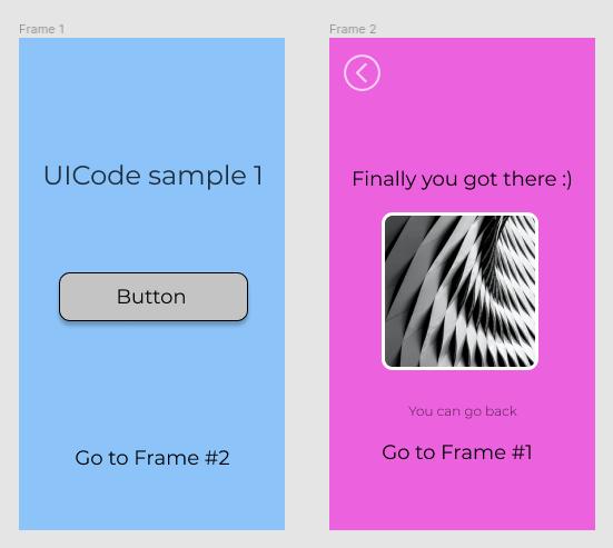 Figma egyszerű prototípus