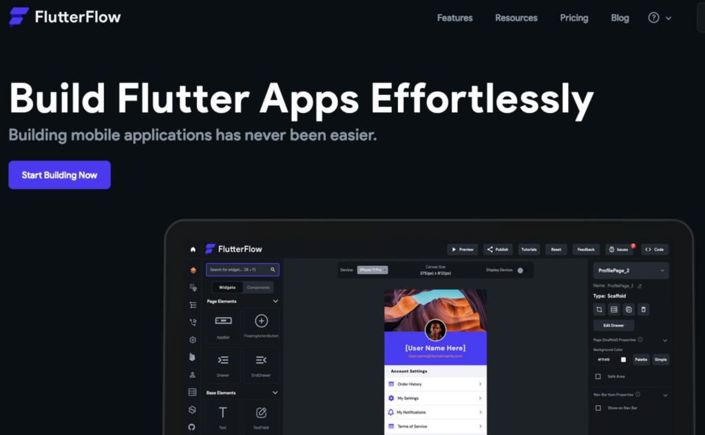 A FlutterFlow low-code igérete